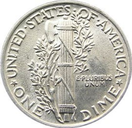 سکهی ده سنتی مرکوری دایم – آمریکا